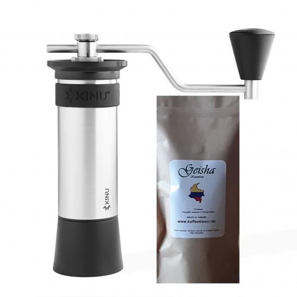 Handmühle Kinu M47 Phoenix mit Geisha Kaffee